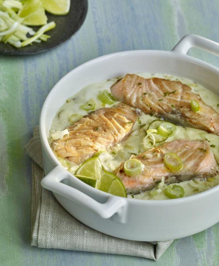 Salmón con cítricos y wasabi