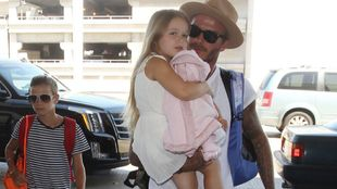David Beckham junto a Harper Seven.