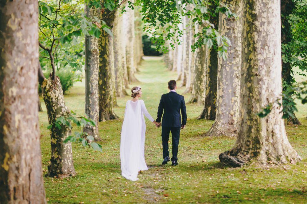 Cristina y Clemente se casaron en una preciosa casa palacio del siglo...