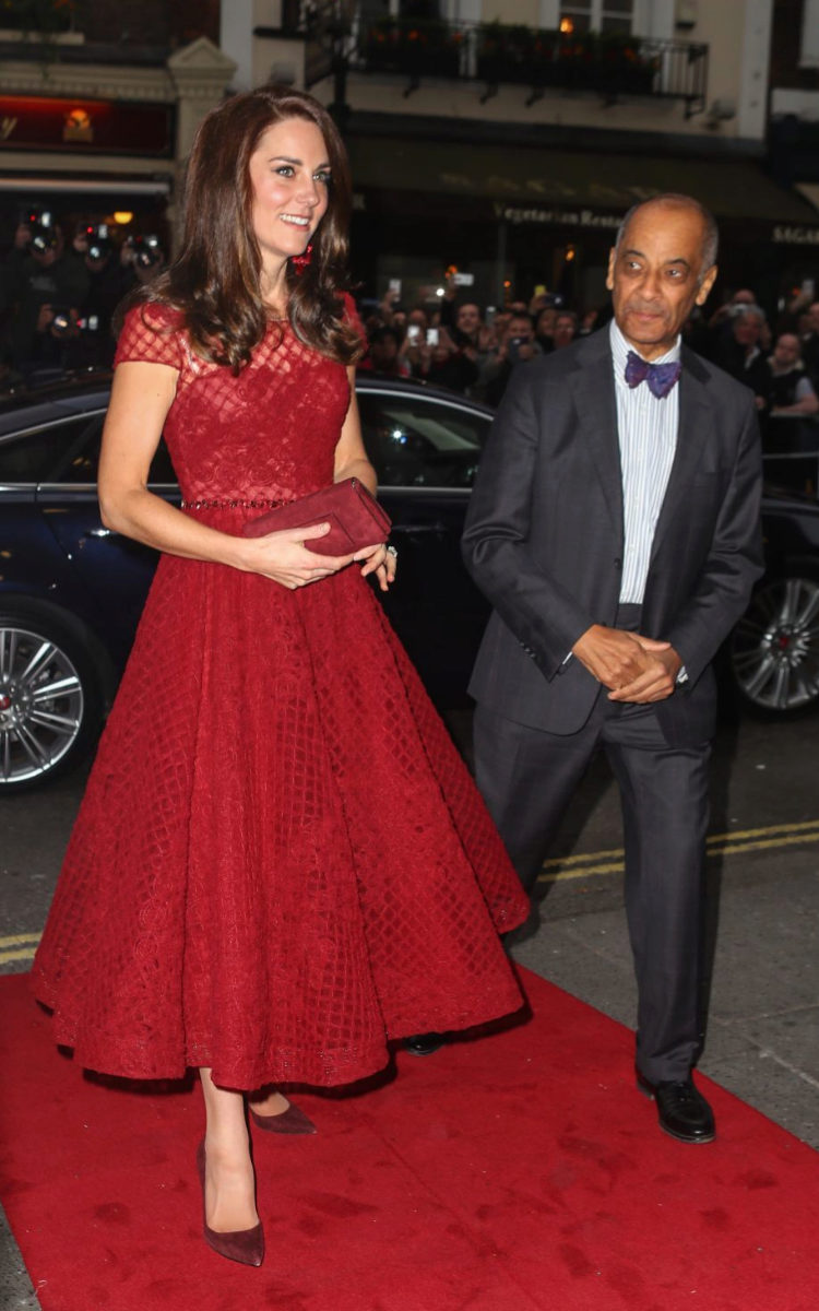Kate Middleton, de Marchesa