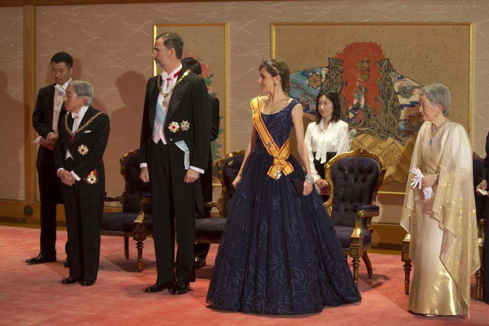 Los Reyes durante su viaje de Estado a Japón