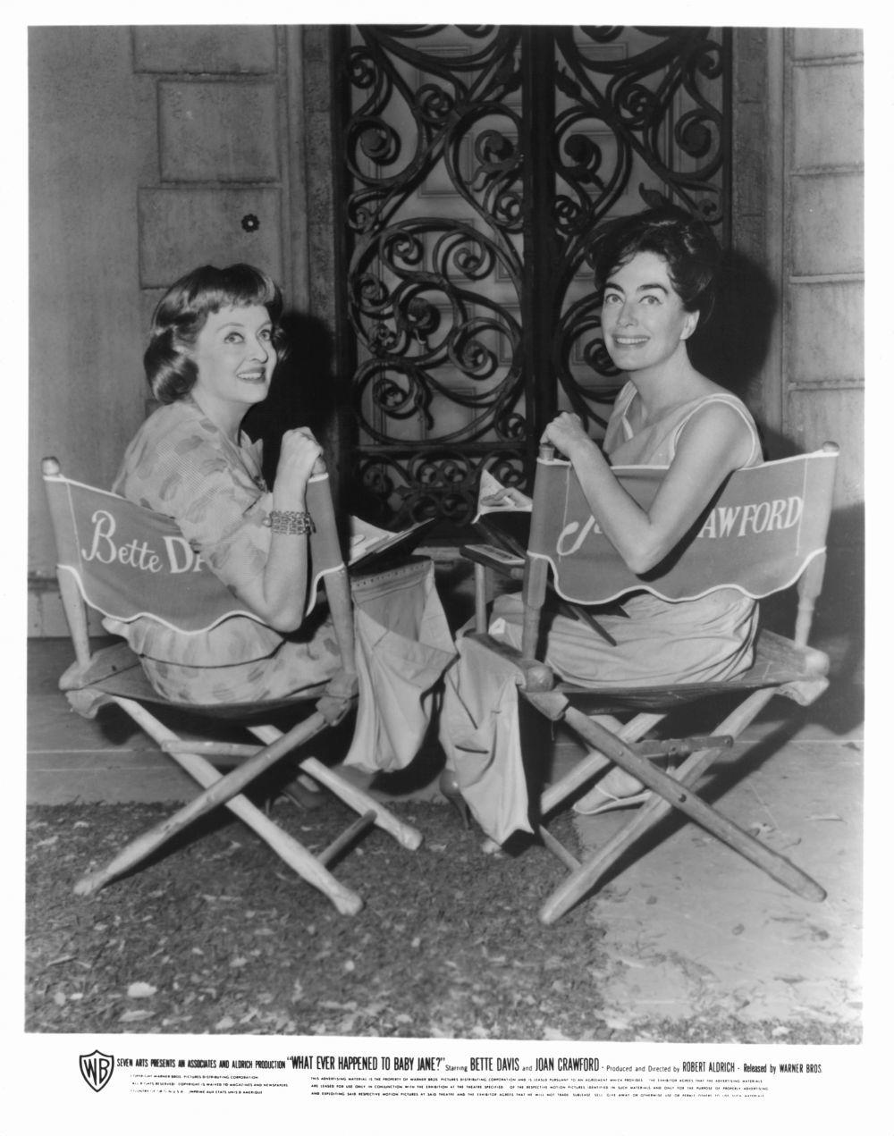 Bette Davis y Joan Crawford en el rodaje de ¿Qué fue de Baby Jane?,...