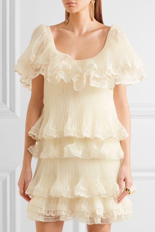 Vestido vaporoso. De Chloé
