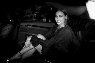 Irina Shayk llegando a la fiesta 20 aniversario de Intimissimi, en...