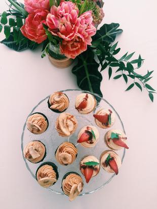 Los cupcakes que disfrutamos en la boutique de Tourbillon con Dani...