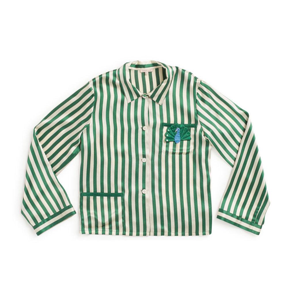 Camisa de pijama de rayas. De Morgan Lane (305 euros).