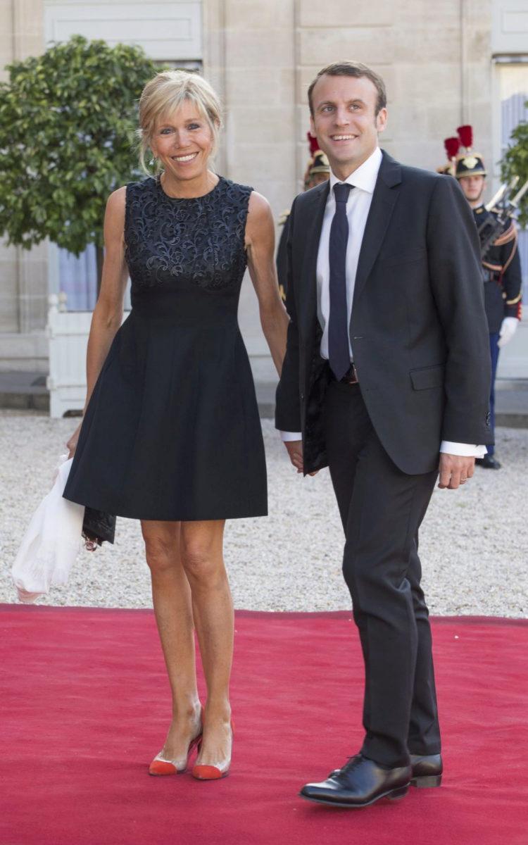 Macron con Brigitte Trogneux