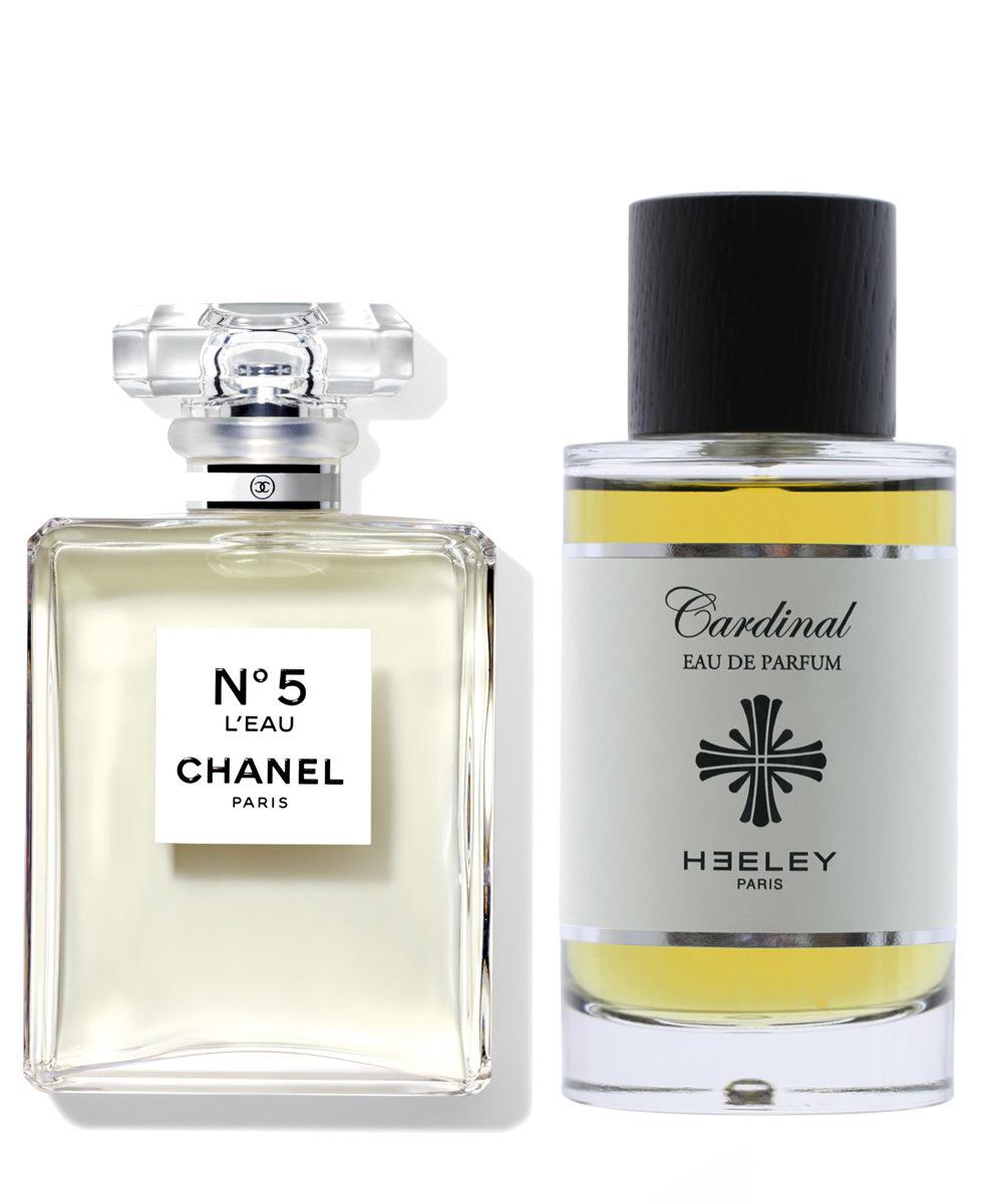 Dos de sus fragancias icónicas: L'Eau Nº5 de Chanel (C.P.V.) y...
