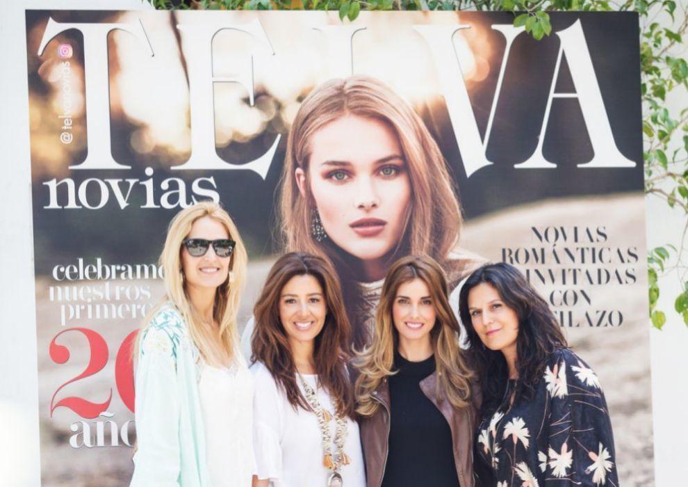 Las organizadoras del evento Gisela Mendoza, Silvia Torres, Patricia...