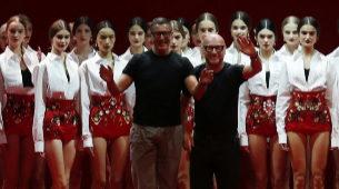 Domenico Dolce y Stefano Gabbana, en uno de sus últimos desfiles.