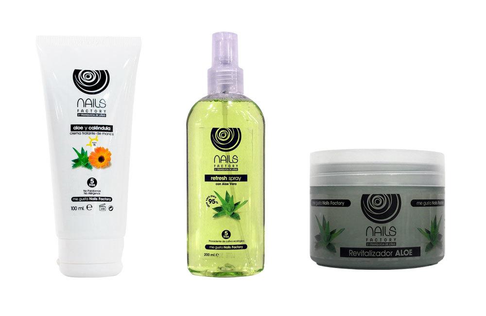 Crema tratante de manos Aloe y Caléndula, Refresh Spray con Aloe Vera...