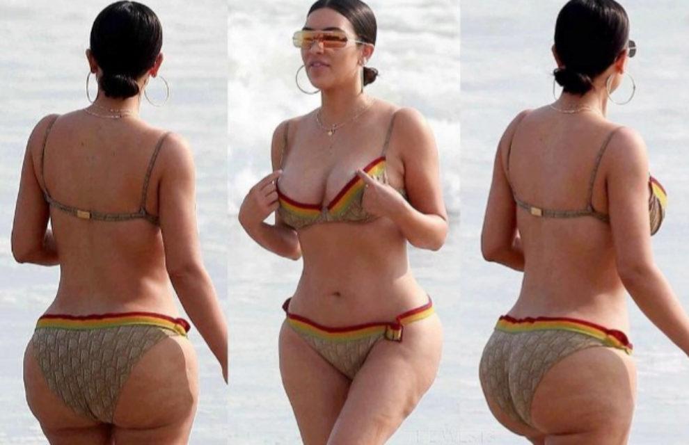 Imágenes de Kim Kardashian en las playas de México donde se puede...