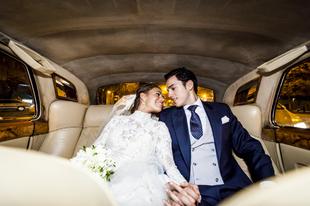 María y Dani boda se casaron en una sencilla y elegante frente al...