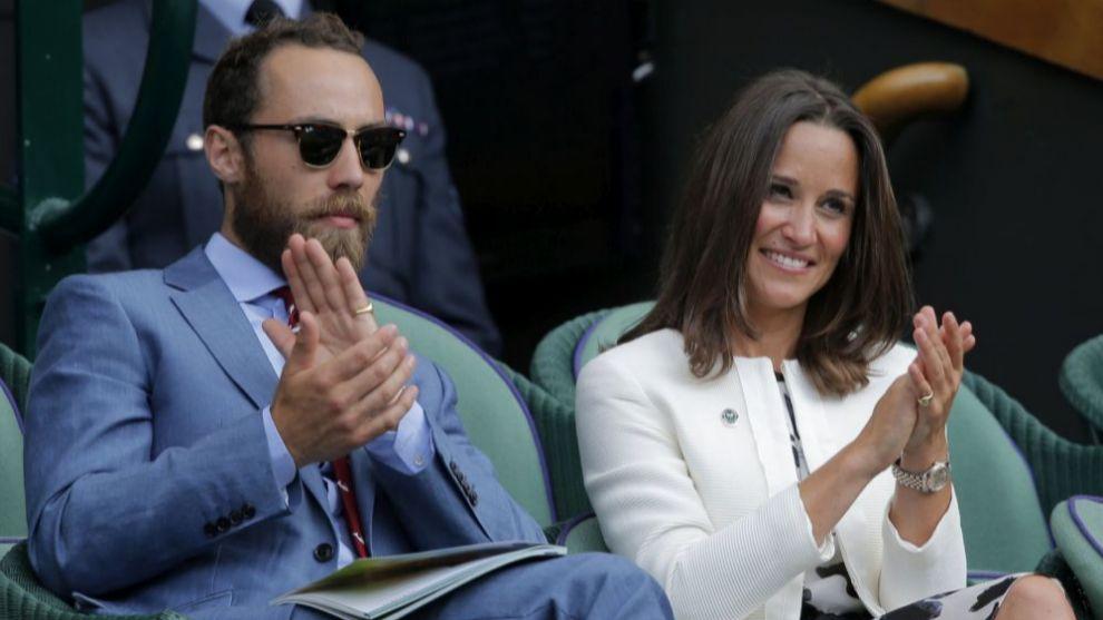 Pippa Middleton y James Matthews en el  Wimbledon