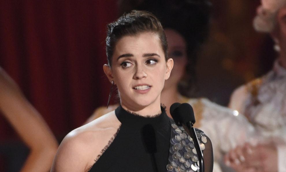 Emma Watson, durante su discurso en la gala de los MTV Awards.