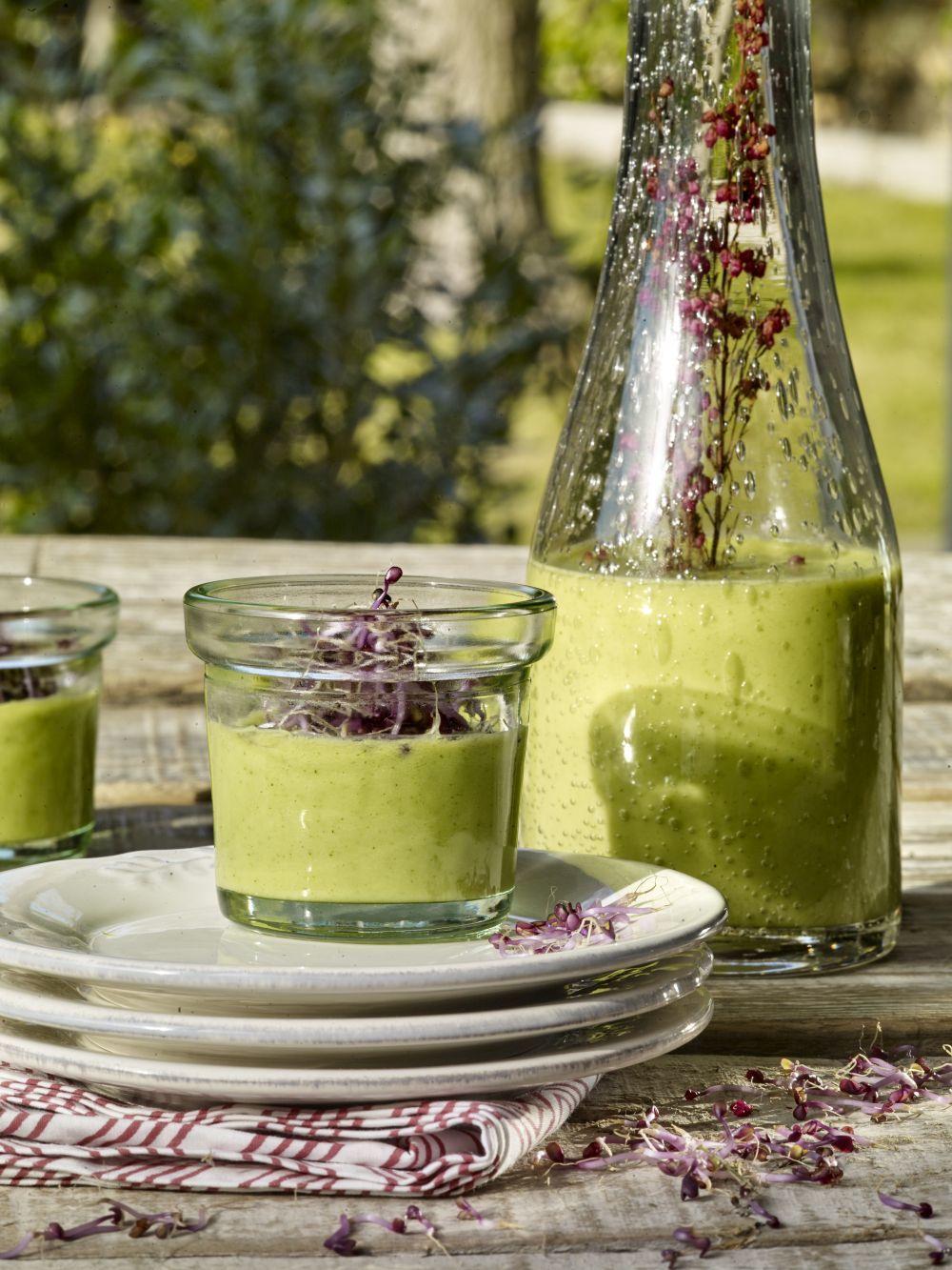Gazpacho de aguacate y calabacín