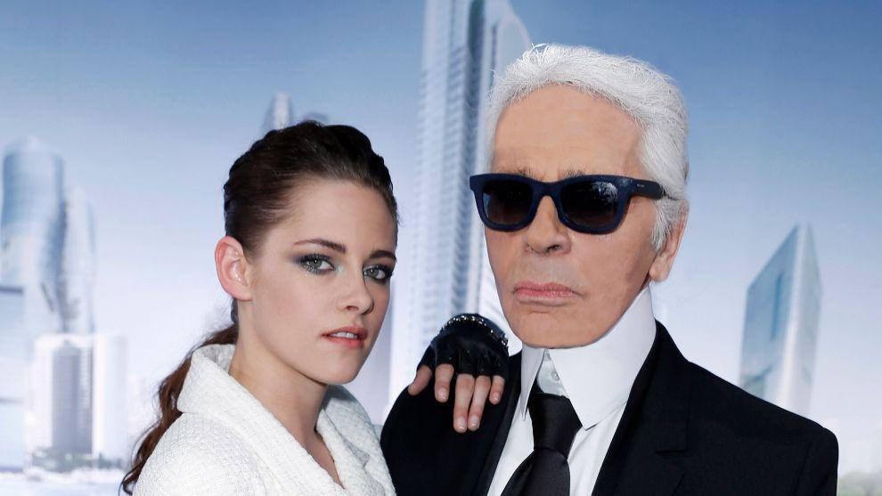 Kristen Stewart y Karl Lagerfeld