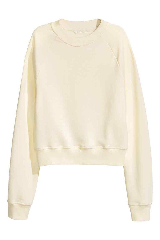 Sudadera blanca oversize. De H&M (14,99 euros).