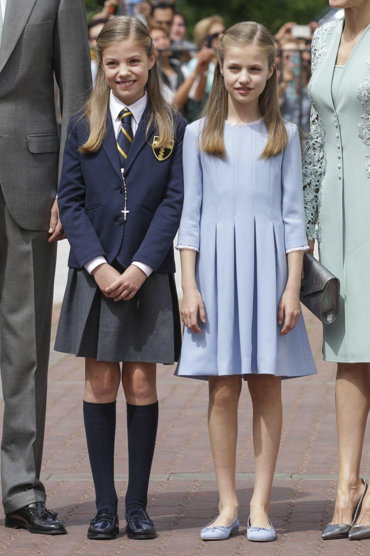 La infanta Leonor, Princesa de Asturias, y la infanta Sofía.