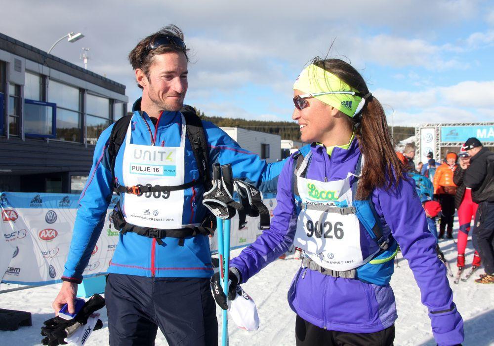 Pippa Middleton y James Matthews durante la carrera Birkebeinerrennet,