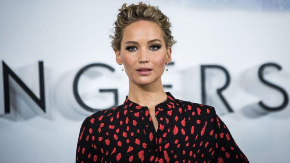 Jennifer Lawrence durante la presentación de Passengers
