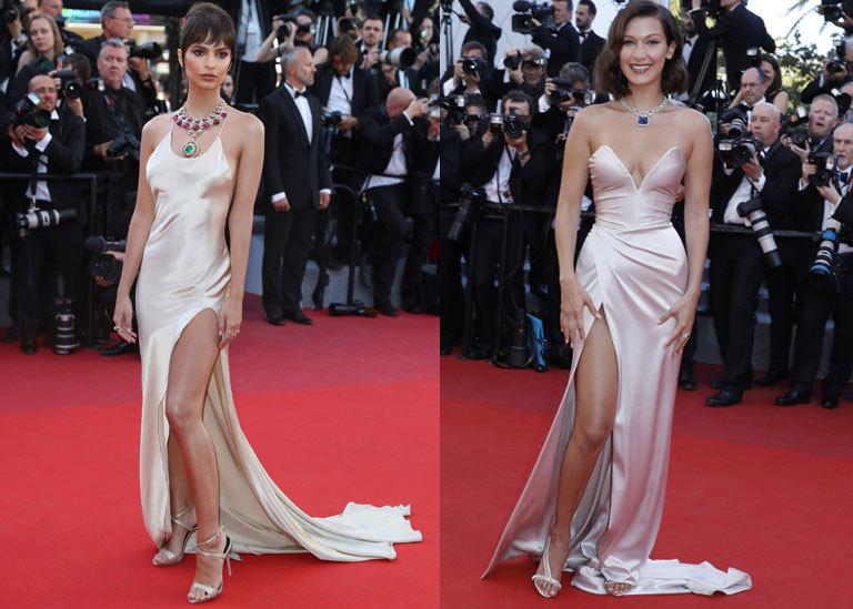 Bella Hadid vs. Emily Ratajkowski en Cannes