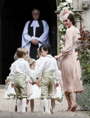 Kate Middleton en la boda de su hermana Pippa.