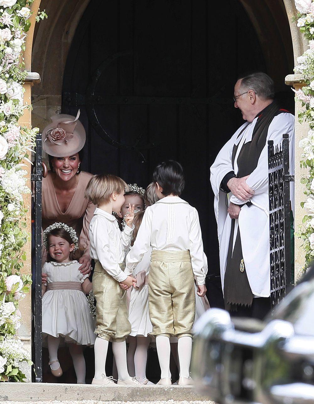 Kate Middleton en la boda de su hermana Pippa.