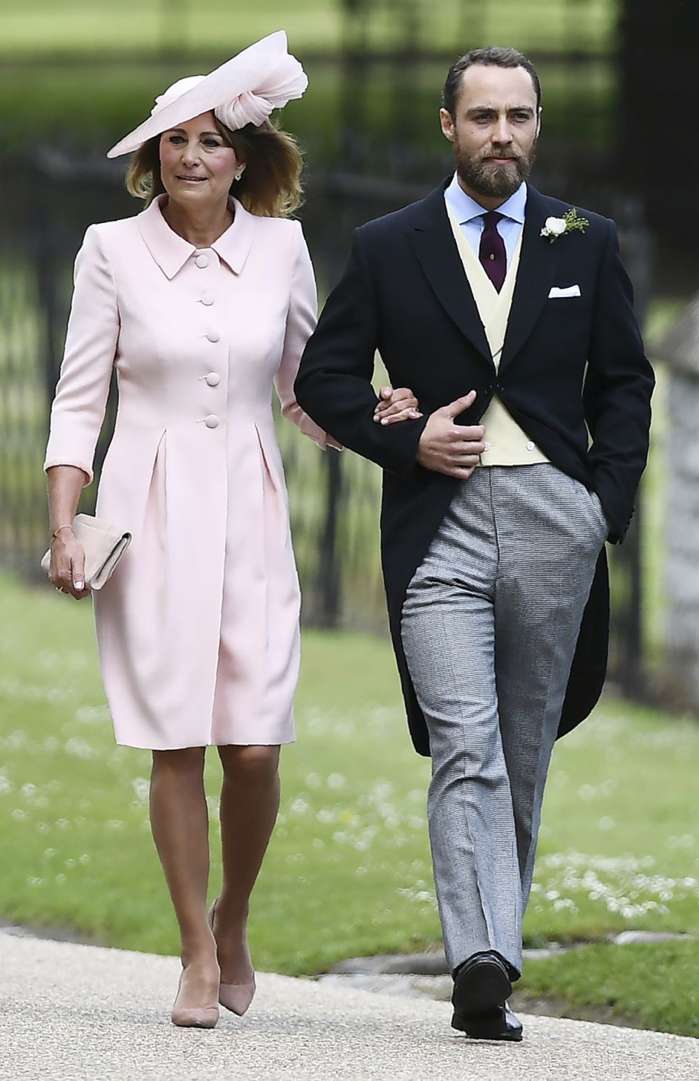 La madre y el hermano de Pippa Middleton, Carole y James Middleton.