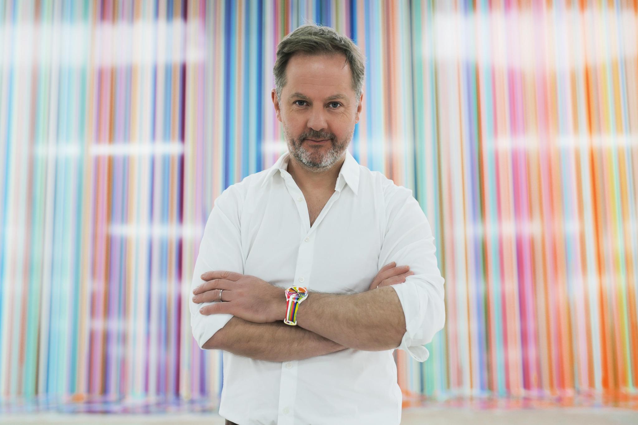 El artista Ian Davenport