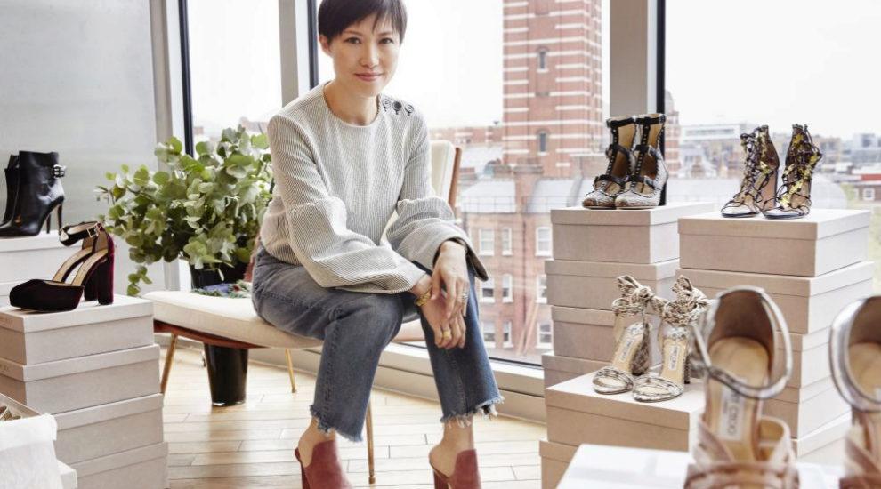 Sandra Choi con algunos de sus diseños favoritos.