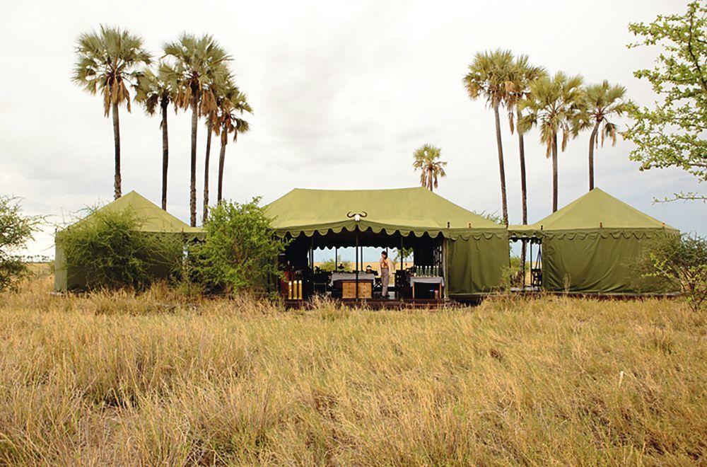 Sofía en una de las tiendas de Jack's Camp, en Botswana.