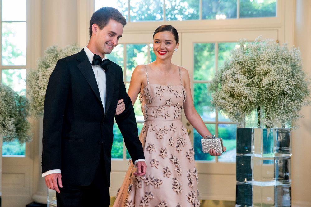 Miranda Kerr y Evan Spiegel en Washington