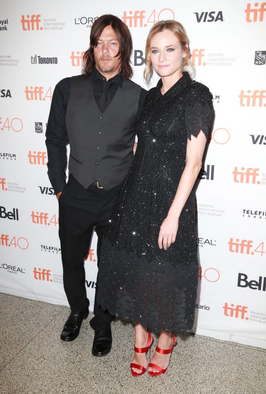 Norman Reedus y Diane Kruger en 2015