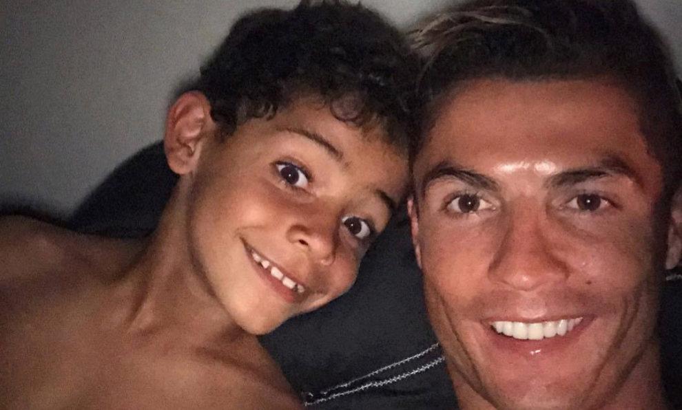 Cristiano Ronaldo y su hijo, Cristiano Jr.
