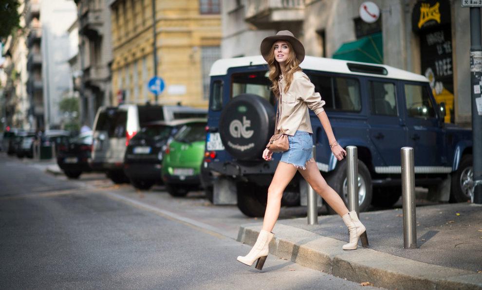 Chiara Ferragni lleva el short en el día a día