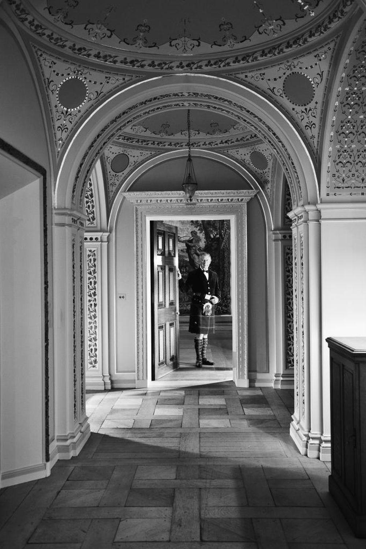 Entrada al salón de los tapices en Dumfries House