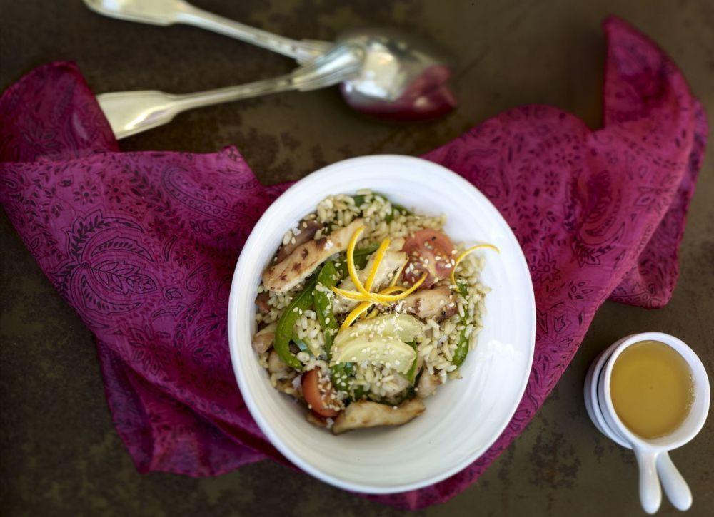 Integral con wok de ave