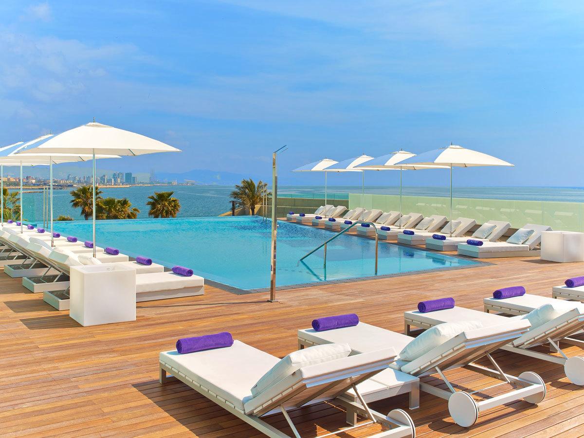 La Sun Deck del hotel W Barcelona.