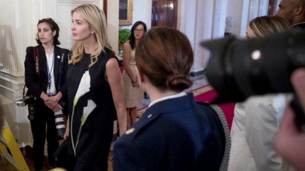 Ivanka Trump en La Casa Blanca