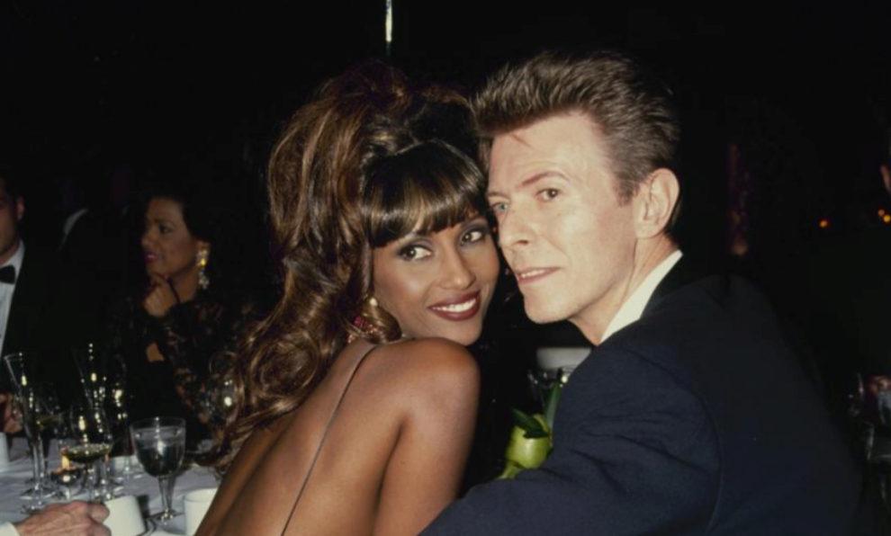 Iman y David Bowie, en una imagen de 1993.