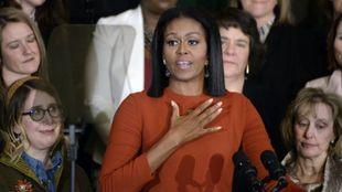 Michelle Obama en la ceremonia de 2017 de la Consejera Escolar del...