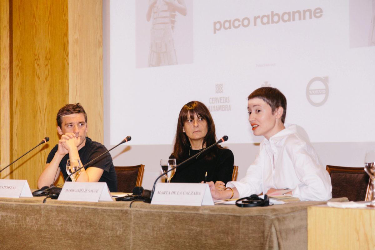 Julien Dossena, Marie-Amélie Sauvé y Marta de la Calzada, durante la...