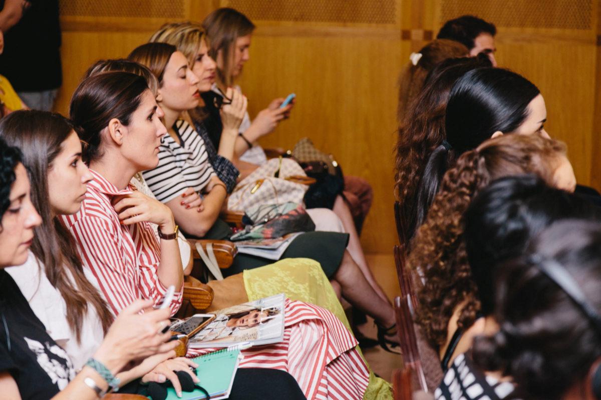Los alumnos, durante la masterclass TELVA tributo.