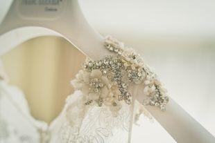 El vestido de novia de Vanessa era de la firma Franc Sarabia.