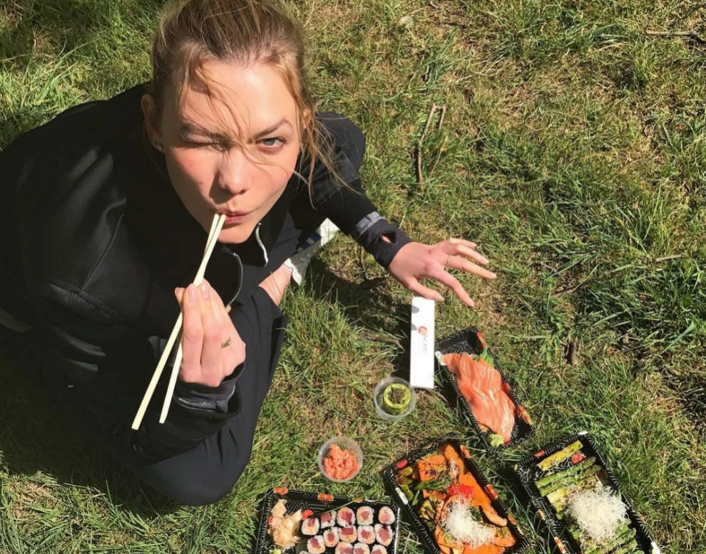 Karlie Kloss sushi lover