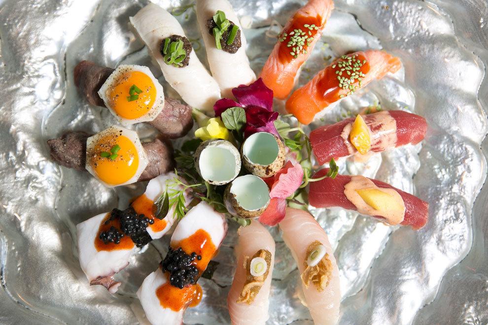 Selección de sushi, en Green Tea Sushi & Cocktail