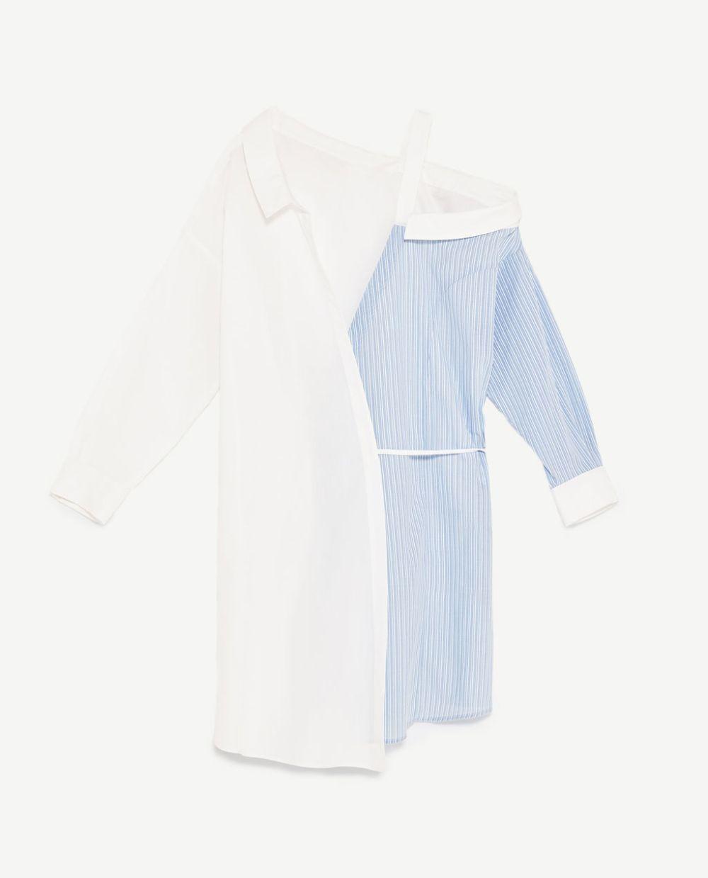 Vestido camisero de Zara (29.95 euros).