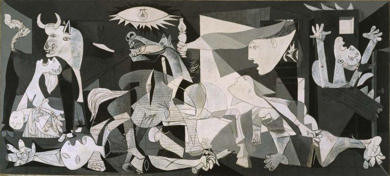 El Guernica en el Museo Reina Sofía de Madrid.