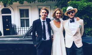 La boda de Arizona Muse y Boniface Verney-Carron en Londres